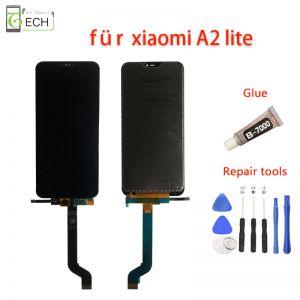 Für Xiaomi Mi A2 Lite LCD  Display Bildschirm Touchscreen Glas Schwarz