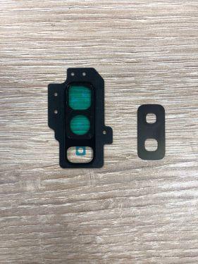 Für SAMSUNG GALAXY S9 SM-G965F SchwarzKamera Glas Halterung Rahmen Camera Linse Set