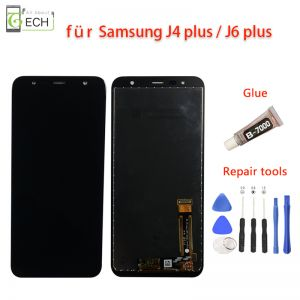 LCD Display für Samsung  J4+ J415F J6+ J610F Plus 2018 Touchscreen Bildschirm