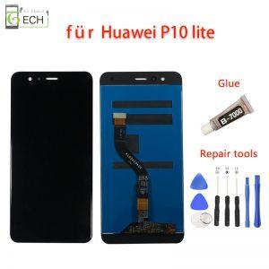 Für Original Huawei P10 Lite  LCD Display  Touchscreen Schwarz + Werkzeuge