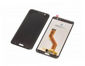 HTC U11 LCD Display schwarz Touchscreen + Werkzeuge und Kleber