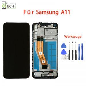 OLED Display fürSamsung A11 A115Fmit Rahmen Touch Screen Bildschirm Werkzeuge