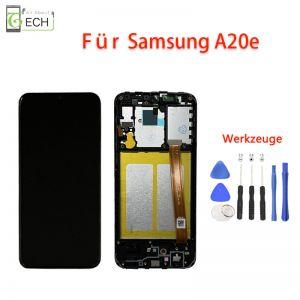LCD Display mit Rahmen fürSamsung A20e A202F Touch Screen Bildschirm Werkzeuge