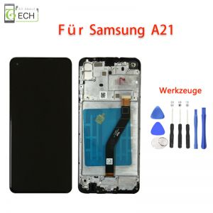 Für Samsung Galaxy A21 OLED Display Mit Rahmen Touch Screen Bildschirm Werkzeuge