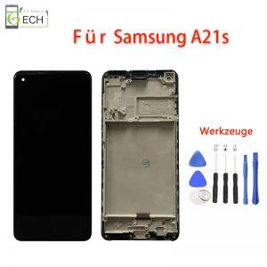Für Samsung Galaxy A21s OLED Display Mit Rahmen Touch Screen Bildschirm Werkzeuge