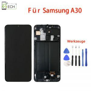 Für Samsung Galaxy A30 A305 OLEDDisplay Mit Rahmen Touch Screen Bildschirm Werkzeuge
