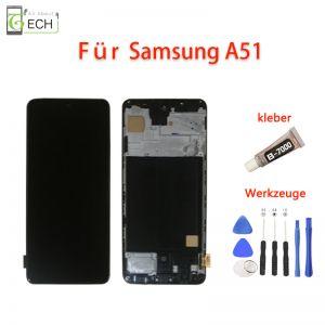 LCD Display fürSamsung Galaxy A51 A515 Touch Screen BildschirmKleber+ Werkzeuge.