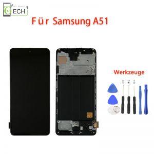 LCD Incell Display mit Rahmen fürSamsung A51 A515 Touch Screen Bildschirm