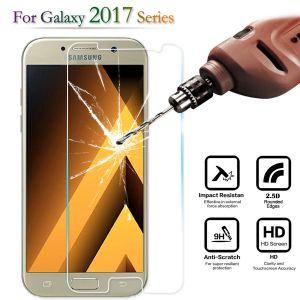 2 x Schutzfolie für Samsung A5 2017 Schutzglas 9H Panzerfolie Echtglas