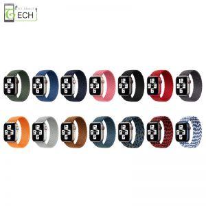 Für Apple Watch Solo Loop geflochtenes Armband Series 6 5 4 3 2 SE Sport Armband