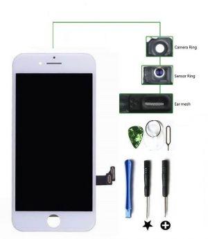 iPhone 8 4.7 LCD Display Touchscreen Front Glas RETINA HD Weiß + Werkzeug + Folie