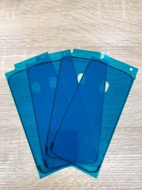 4 x für iPhone XR Rahmen Display Kleber Klebeband wasserdicht - Schwarz