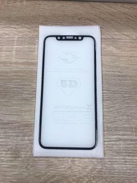 2 x iPhone X XS 10 Schutzfolie Panzerfolie 9H Glas 360° Full Screen schwarz Schutzglas