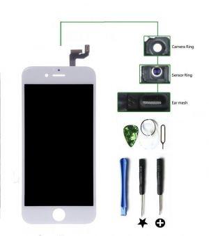 Für iPhone 6s 4.7 Weiß LCD Display Touchscreen Retina HD + Werkzeug + Panzerfolie