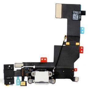 Für iPhone 5s Ladebuchse Flex Audio Jack Buchse Mikrofon Kabel Kopfhöreranschluss weiß
