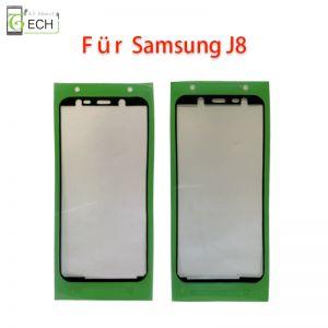 Für Samsung  J8 J810F Rahmen Display Kleber Klebepad Dichtung wasserdicht Schwarz