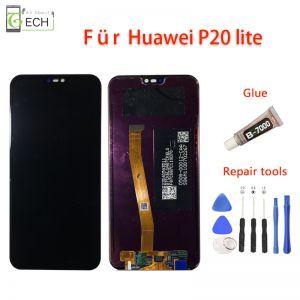 LCD Touchscreen für Huawei P20 Lite Display Glas Displayeinheit Schwarz + Werkzeuge