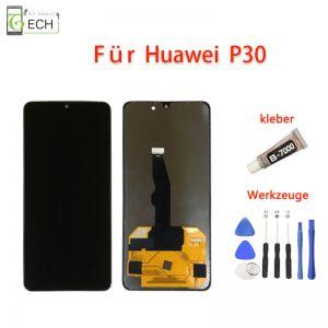 LCD Display für Huawei P30 Touchscreen Touch Bildschirm Schwatz Werkzeuge und Kleber