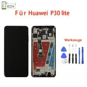 LCD Display fürHuawei P30 Lite mit Rahmen Touch Screen Bildschirm Werkzeuge