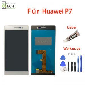 FürHuawei P7LCD Display Touch Screen BildschirmWeiß, Kleber+ Werkzeuge.
