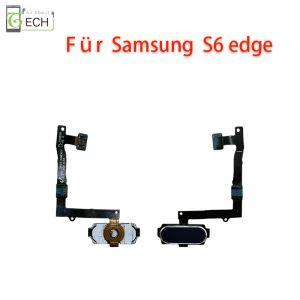 Für Samsung S6 Edge Home Taste Finger Abdruck Sensor Fingerprint Flex schwarz