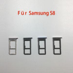 Für Samsung S8 G950F silberne Dual SIM-Tray Halter Karte Schlitten Sim Fach