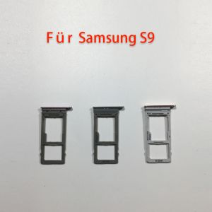 Für Samsung Galaxy S9 G965 Schwarze Dual SIM-Tray Halter Slot Karte Schlitten Sim Fach