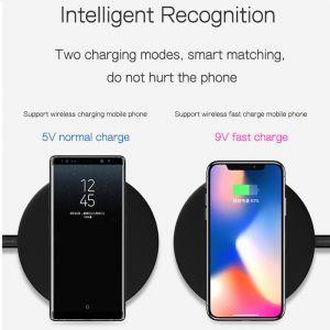 Ladestation induktiv Ladegerät für Samsung S9 und iPhone 8, x in schwarz